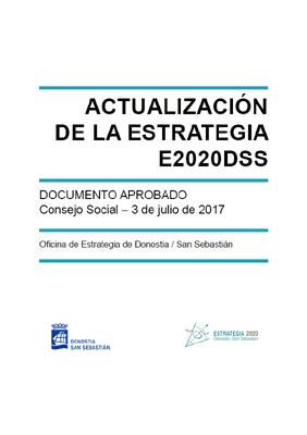 Actualización de la Estrategia E2020DSS. Documento aprobado